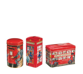 Churchill's Confectionery 3 Piece Classic Souvenirs Biscuit Tins Selection - 806086