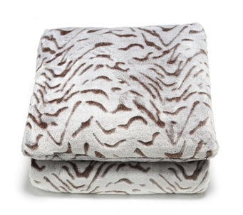 Cozee Home Animal Embossed Throw & Cushion Set - 805187