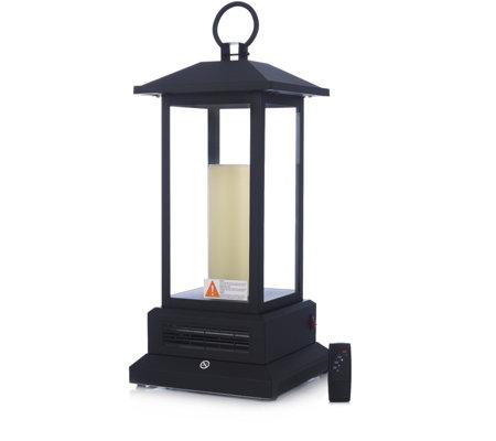 powerheat lantern style infrared quartz heater with remote. Black Bedroom Furniture Sets. Home Design Ideas