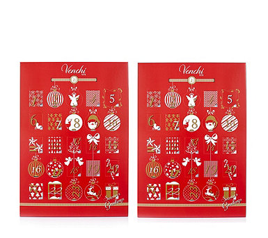 Venchi 1878 Italian Set of 2 Advent Calendars with Chocolates - 806995