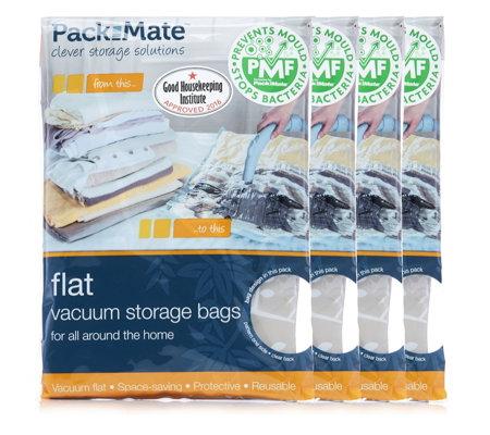 pack mate 8 piece flat vacuum storage bag set