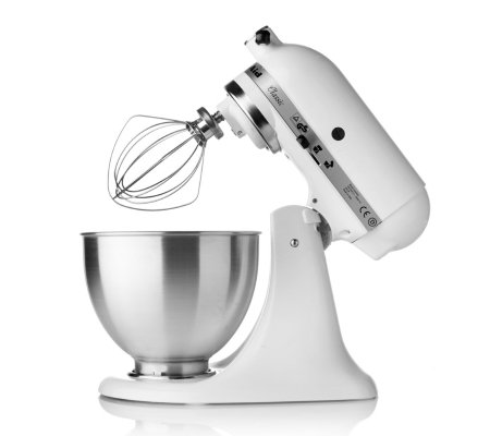 kitchenaid k45 250w stand mixer with 4 2l bowl and attachments qvc