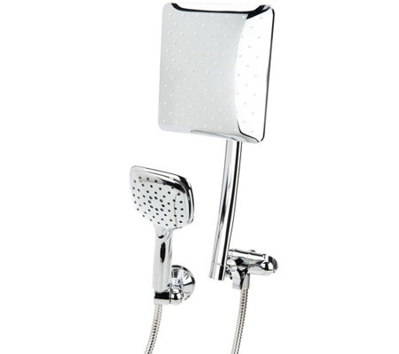 HotelSpa Square or Round Luxury Rainfall Combo Showerhead
