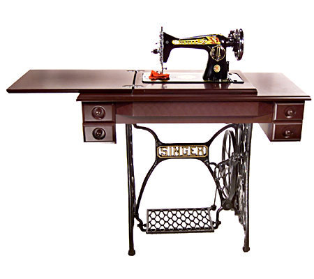 treadle sewing machine with cabinet