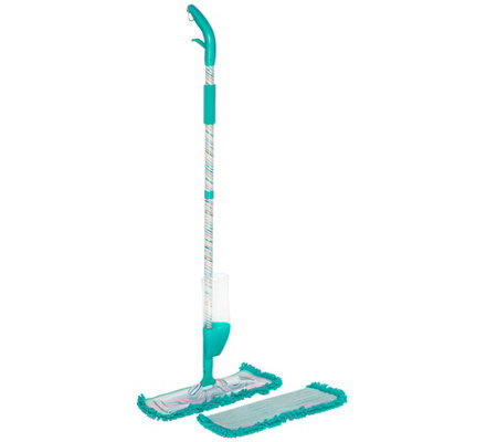 QuickMop Spray Mop w/2 Reusable Microfiber Pads by Campanelli