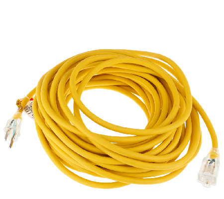 Heavy Duty 50 Foot Outdoor Extension Cord w/LightedOutlet