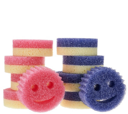 Scrub Mommy (8) Dual-Sided Scratch Free Sponge Set w/ (2) Scrub Daddy