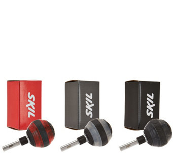 """As Is"" SKIL Set of 3 Ratcheting Balltop Screwdrivers - V127204"