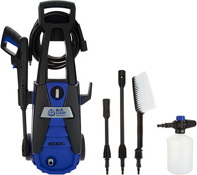 Blue Clean 1600 PSI Pressure Washer w/ Soap Foamer - V35405