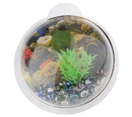 Fish bubbles decorative wall mounted 1 gallon fish bowl for Bubbles in fish bowl