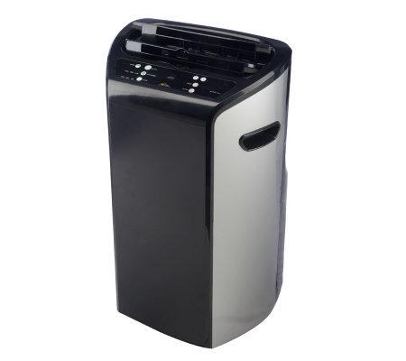 royal sovereign btu dual hose black portable air conditioner