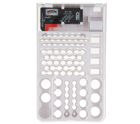 Battery Organizer & Storage Case W/ Removable Battery Tester