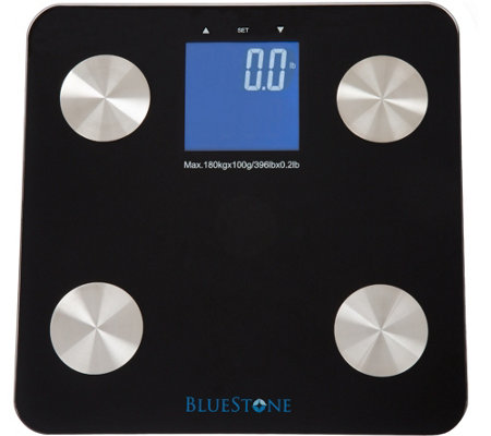 Bluestone Digital Body Fat Scale & Large LCD Display-Black