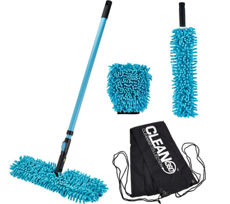 Clean 360 All Purpose Microfiber Dusting & Cleaning Kit