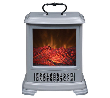 Duraflame Portable Stove Heater With Handle Amp Side Viewing