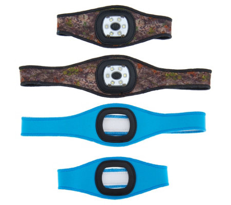 Stanley Set of Two Rechargeable Headband Lights with Armbands