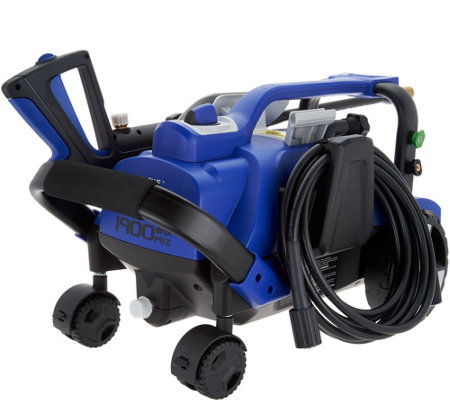 Blue Clean 1900 PSI Take-Along Pressure Washer w/ Foam Cannon