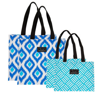 SCOUT Set of 4 Reusable Multi-purpose Tote Bags - V34410