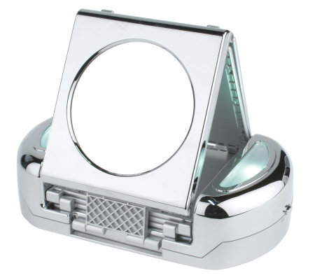 360-Degree 7 Panel Folding 5X Lighted Mirror