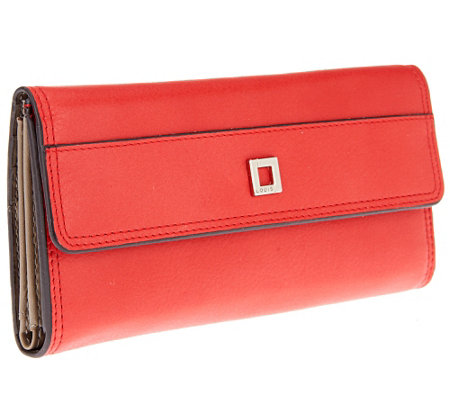LODIS Clutch Italian Leather Wallet with Built-in RFID Protection