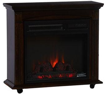"Duraflame 1500W Infrared Quartz 18"" Rolling Mantle Heater - V33512"
