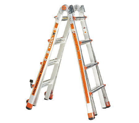"""As Is"" Little Giant TitanX 24-in-1 17' Ladder with Wheel Kit"
