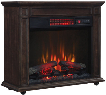 "Duraflame 1500W Infrared Quartz 27"" Rolling Mantle Heater"