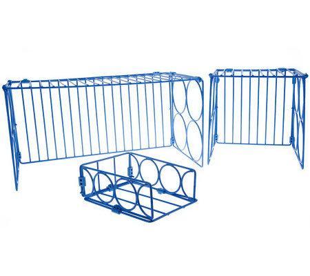 Kabinet Katchers Set Of 3 Organizing Folding Shelves