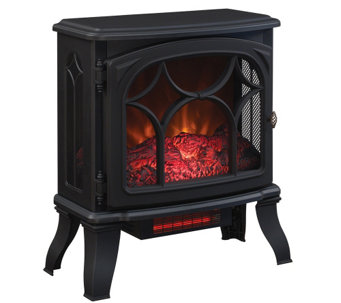 Duraflame 1500W Large Infrared Quartz Stove Heater w/Flame Effect - V33514