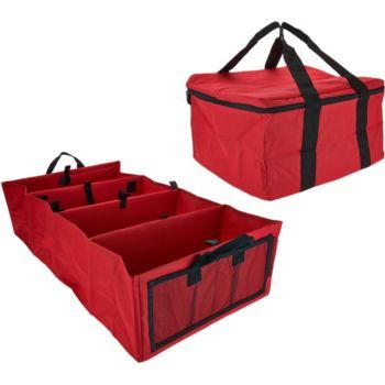 6-Way Folding Trunk Organizer Car Caddy w/ Hot/Cold Carrier