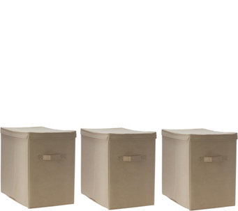 Pop-It Set of 3 Collapsible Storage Bins with Lids - V34417
