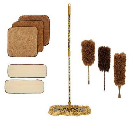 JoeCampanelli's 11-piece Safari Dusting and Mop Set