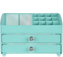 Nifty Cosmetic Organizer w/ 2 Drawer Features - V35118