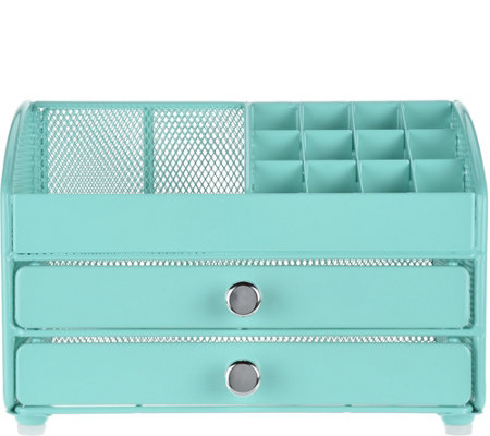 Nifty Cosmetic Organizer w/ 2 Drawer Features