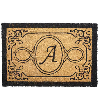 """As Is"" Handcrafted Monogrammed Initial 2'x3' Coco Doormat - V127119"