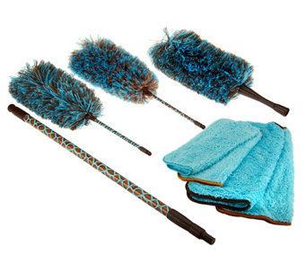 8 Piece Safari Microfiber Dusting Kit by Campanelli - V32719