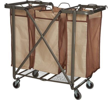 Foldable Laundry Storage System with Removable Bags