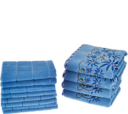 Don Aslett's 12 Piece Decorative Microfiber Towel Set