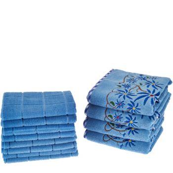 Don Aslett's 12 Piece Decorative Microfiber Towel Set