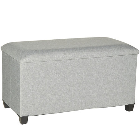"FHE 30"" Storage Bench with Tapered Top and Wooden Feet"