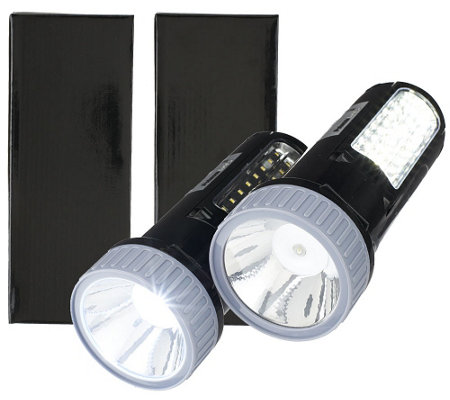 Super Bright Set of 2 LED Multi Position Rechargeable Lantern Lights