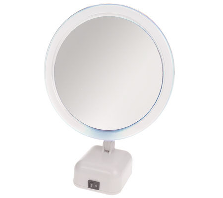 Floxite Full Spectrum Lighted 8x Magnifying Mirror Qvc Com