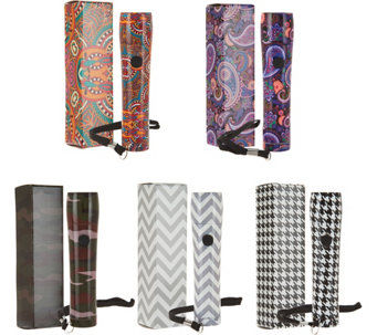 HALO Set of 5 Fashion Forward Patterned Flashlights - V34227