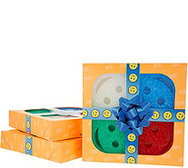 Scrub Daddy Set of 3 Multi-Color 4-pc Sponges in Gift Boxes - V34527