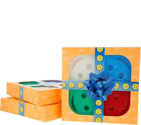 Scrub Daddy Set of 3 Multi-Color 4-pc Sponges in Gift Boxes