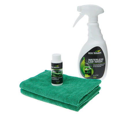 Eco Touch 24oz. Waterless Car Wash w/ 2oz.Concentrate &MicrofiberTowe