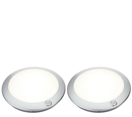 "Good Earth Set of (2) 7"" Rechargeable Super Bright Closet Lights"