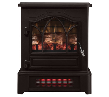 Duraflame Infrared Pedestal Base Stove Heater w/3D Flame Tech