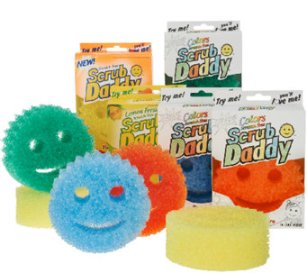 Scrub Daddy Multi-Pack 10pc Flex Texture Scratch Free Sponges - V32931