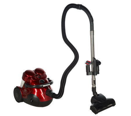 fuller brush dual cyclonic bagless canister vacuum wturbo brush